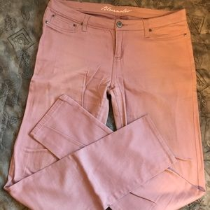 Baby pink/mauve skinny jeans